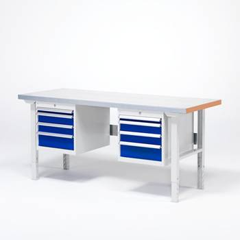 Workbench - Package deal with 2 drawer units and 8 drawers