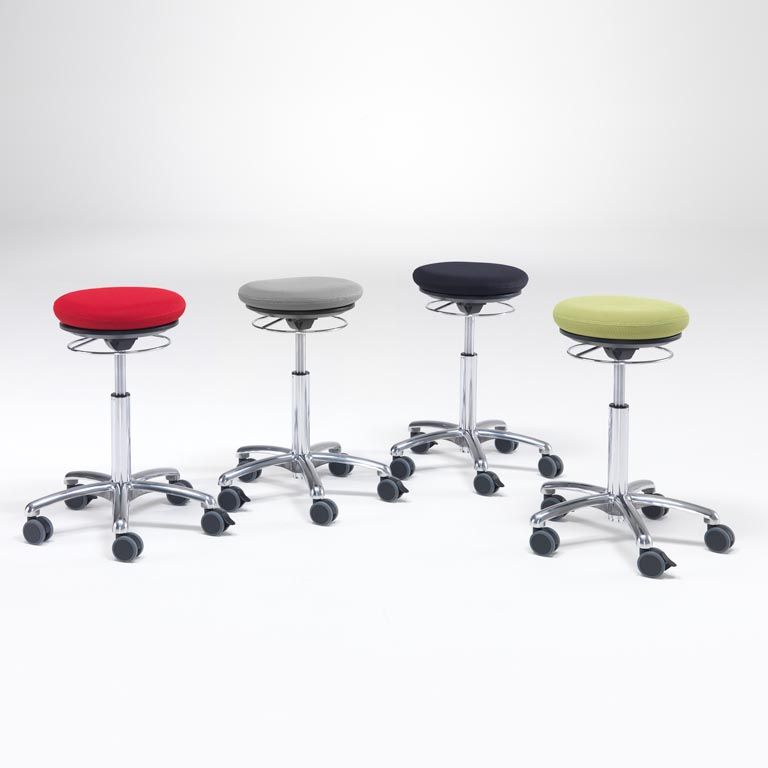 "Fabric ""pilates"" stool"