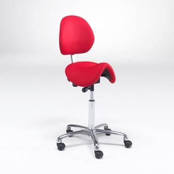 Sadelstol Derby med rygg og sete i stoff