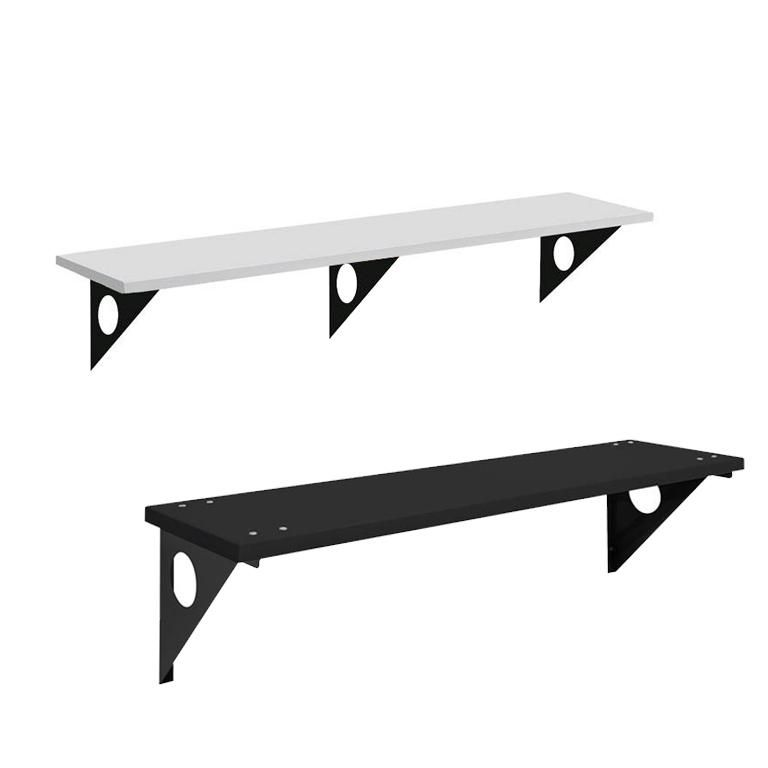 Wall-mounted bench