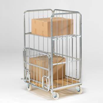 Cage trolley: H1390xW675xL830mm