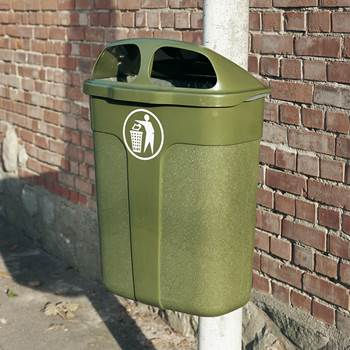 Litter bins for wall or post fixing