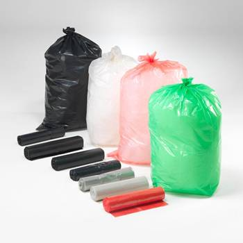 Refuse sacks: red: 125L: 25 pcs