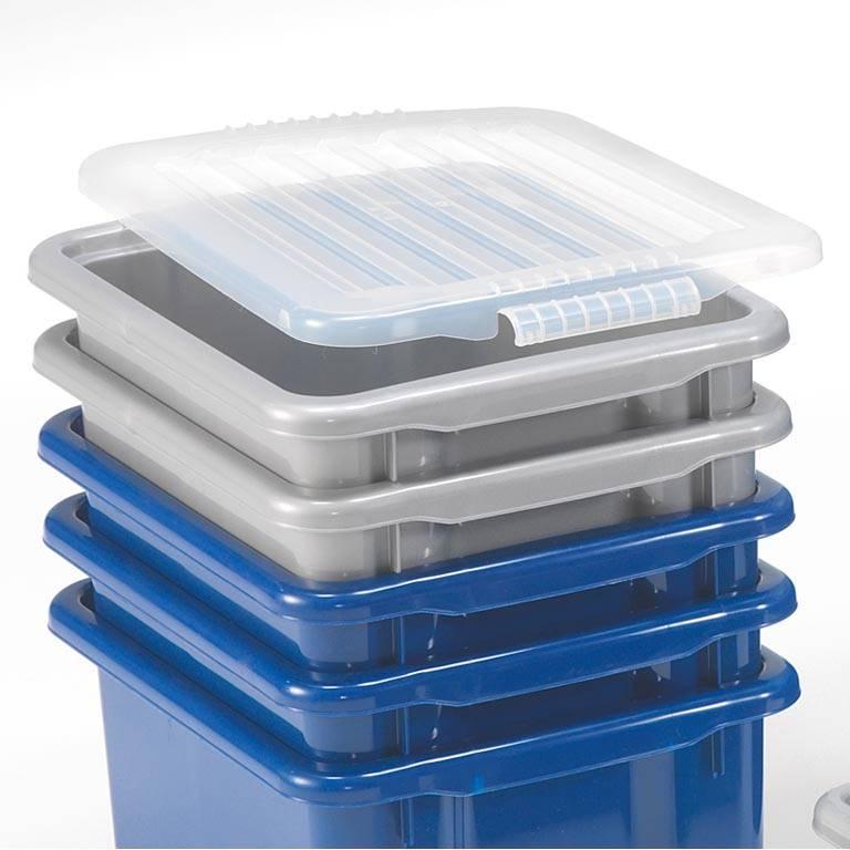 Transparent lokk til oppbevaringsboks