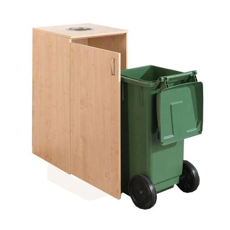 Wheelie bin cabinet: can slot