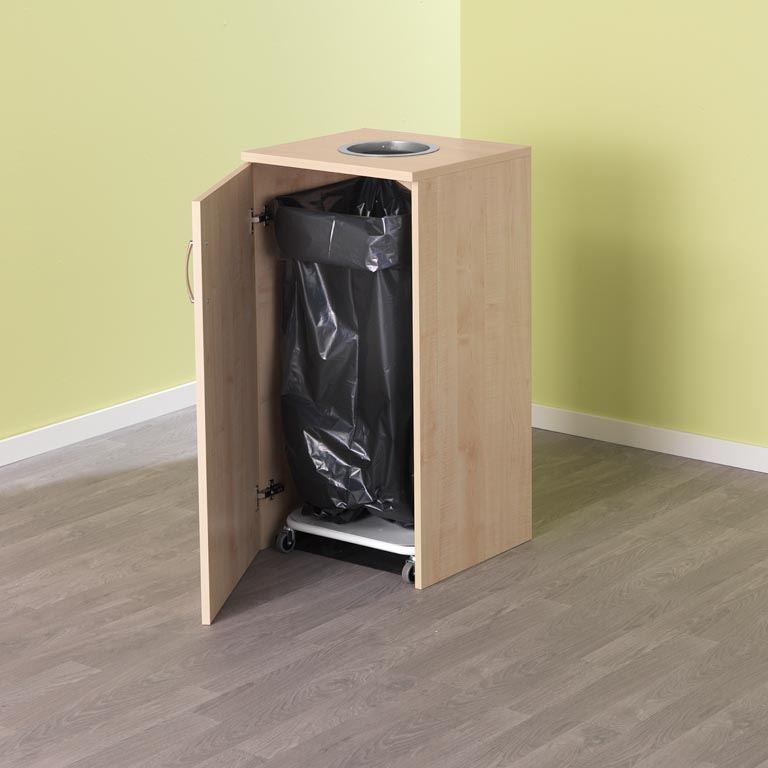 Källsorteringsskåp för sopsäckshållare