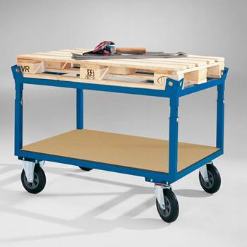 Adjustable secure pallet trolley