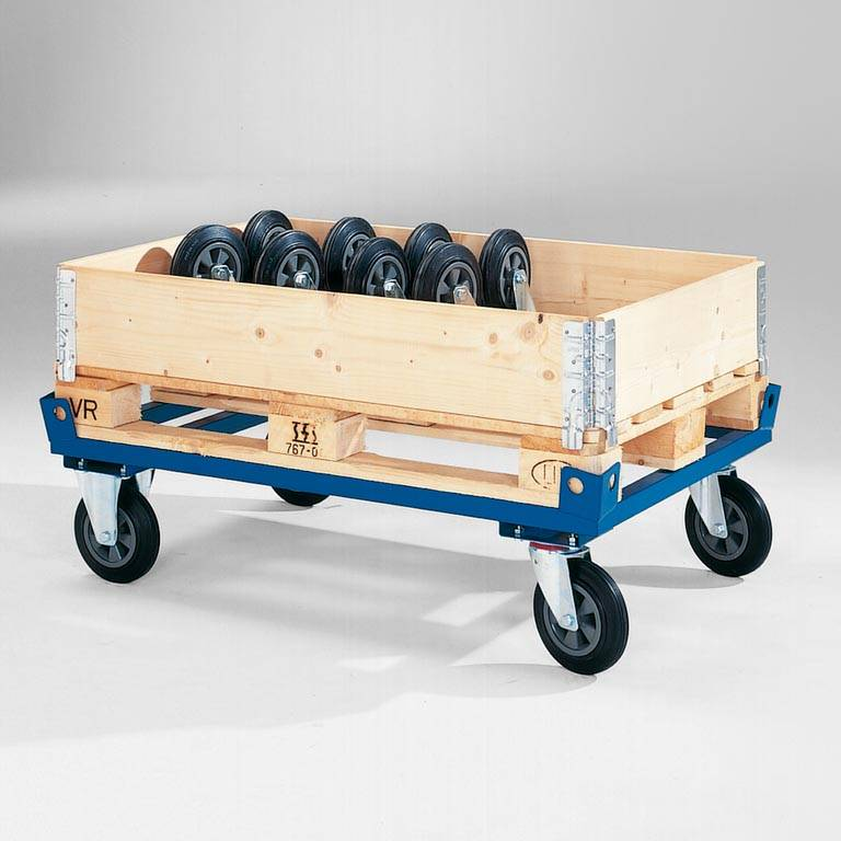 Low secure pallet trolley