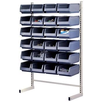 Storage bin rack: 24/48 bins