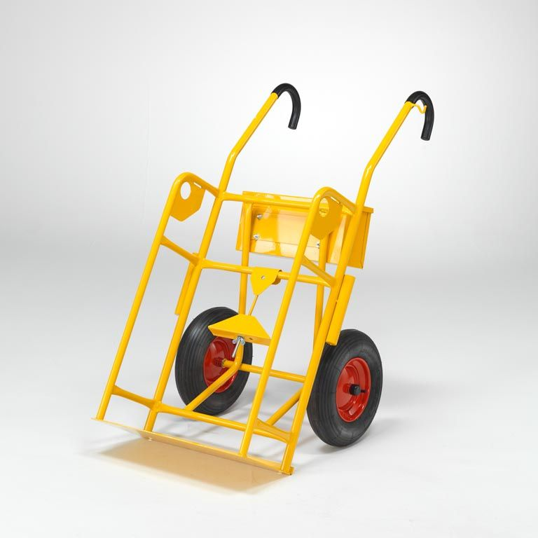Gas canister trolley