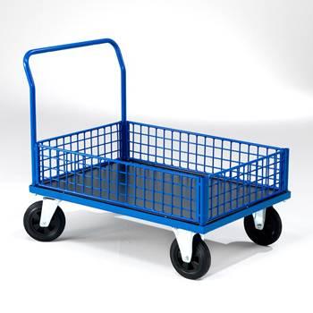 Plošinový vozík s nízkymi stenami
