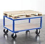 Adjustable pallet trolley
