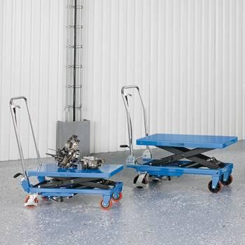 Hydraulic lifting trolleys