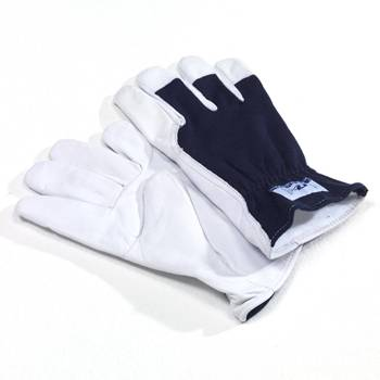 Fleece-lined goatskin gloves