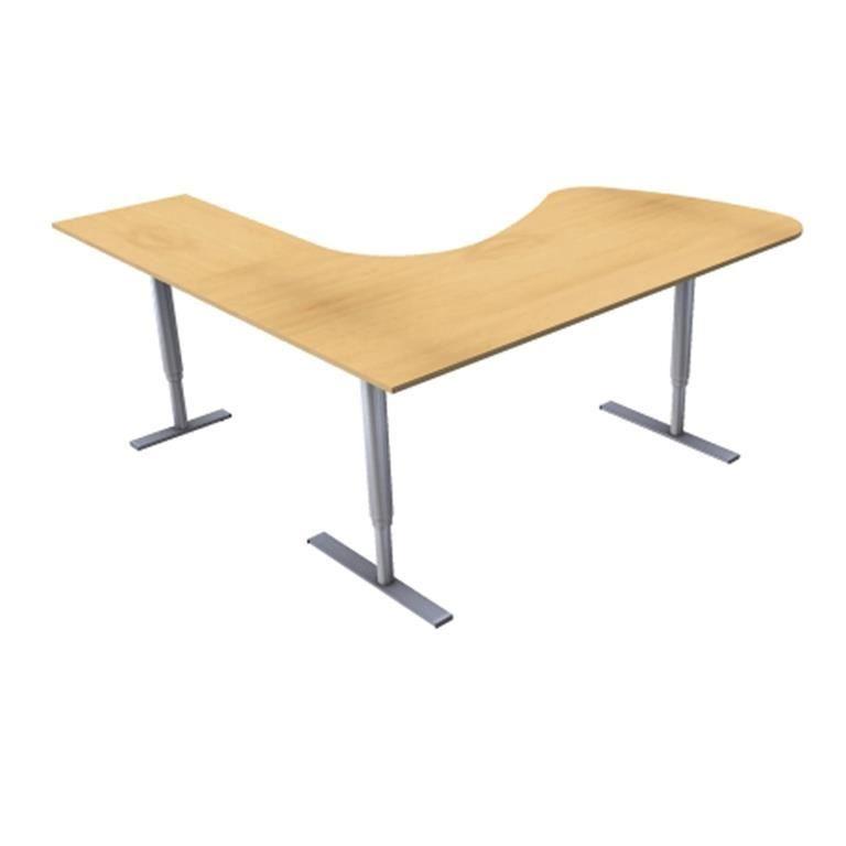 Skrivbord 3-Pelarstativ m Besöksdel