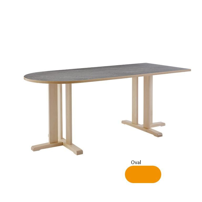 """Kupol"" Table, birch, H600, oval"