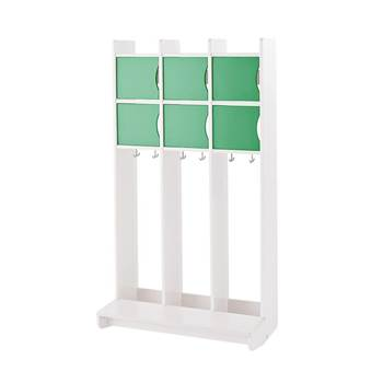 """""""Tobbe"""" clothes and shoe rack 2 shelves, wall model"""