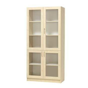 Equipment display cabinet, 4 x glass doors, D600 mm