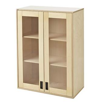 Upper cabinet with coloured doors