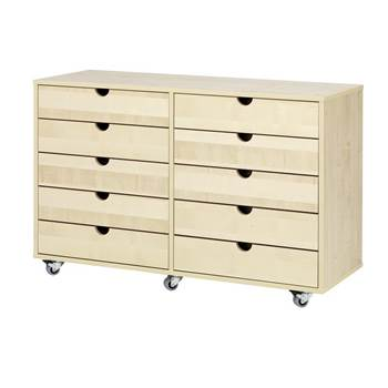 Combination student storage 2:4, birch