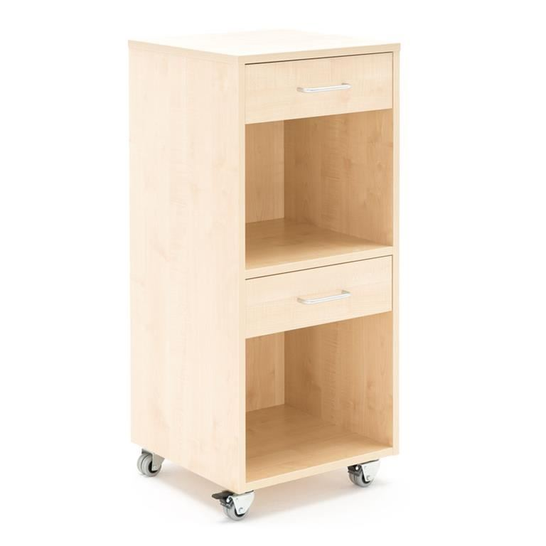 Mobile lectern with two drawers