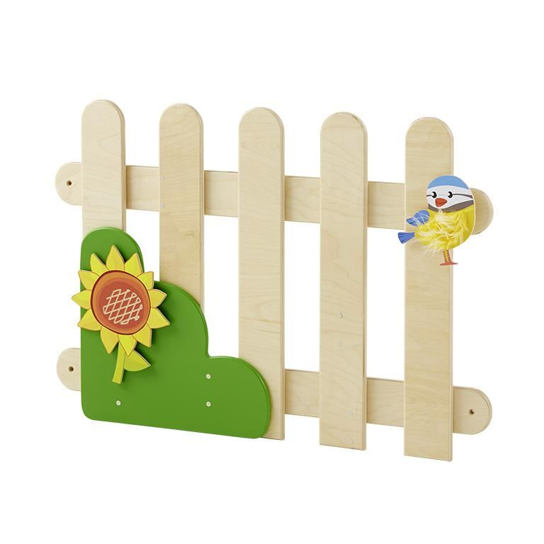 Magnetic play picket fence set