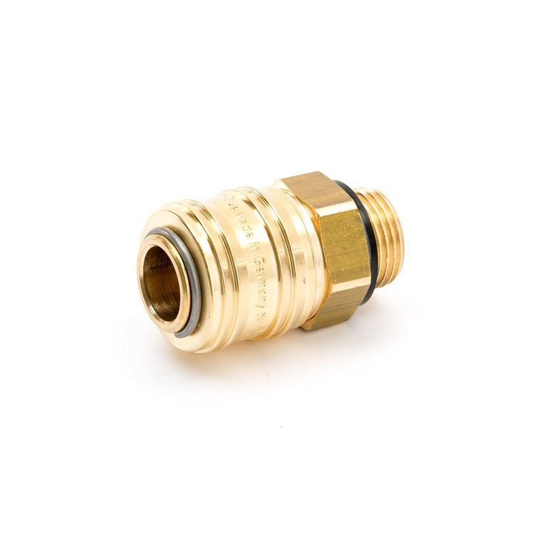 Quick coupling in brass: exterior thread