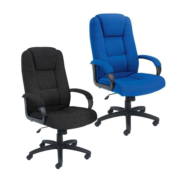 """Keno"" office chair: fabric upholstery"