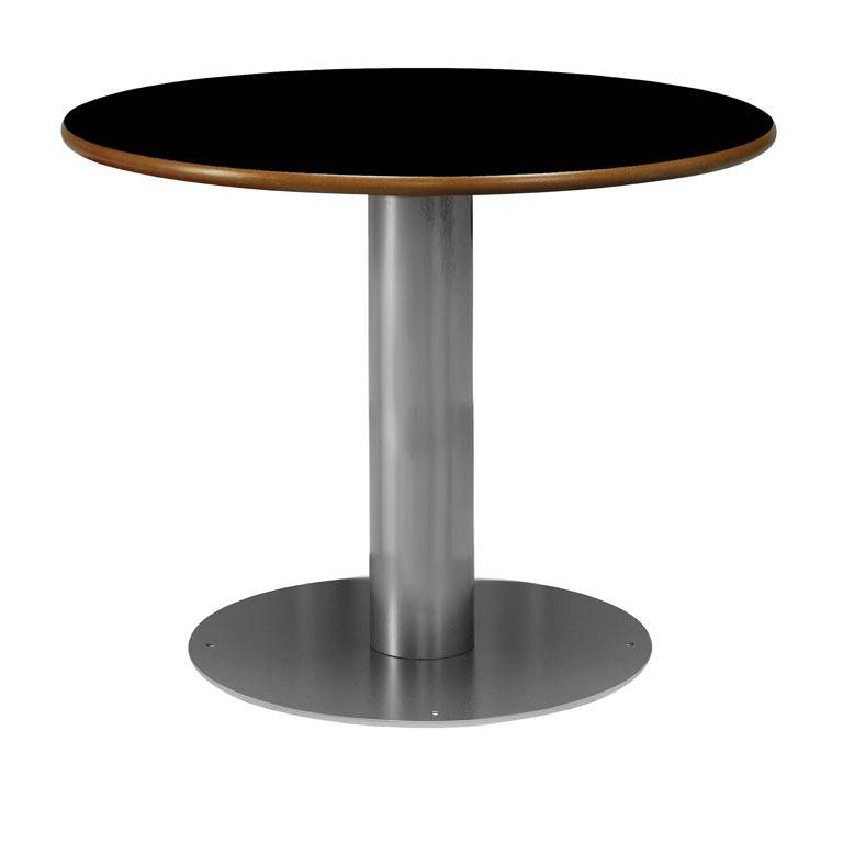 """Nimbus"" fixed round canteen tables"