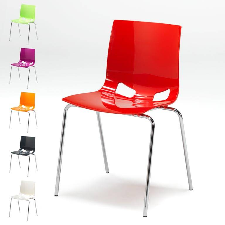 Colourful plastic chair