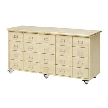 Merchant storage trolley, 20 drawers
