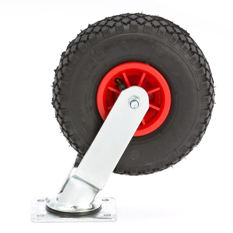 Luftgummihjul, kapasitet 100 kg