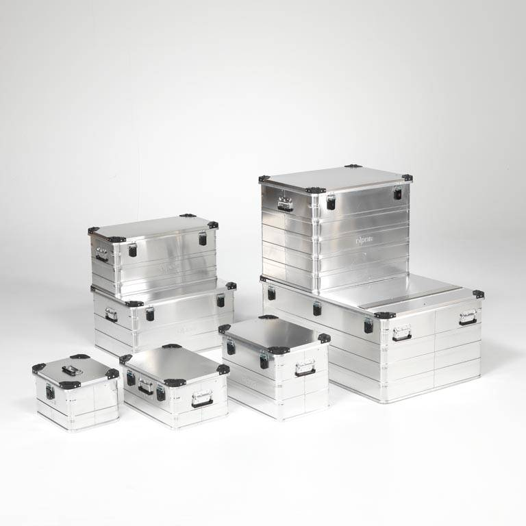 Aluminium transport boxes